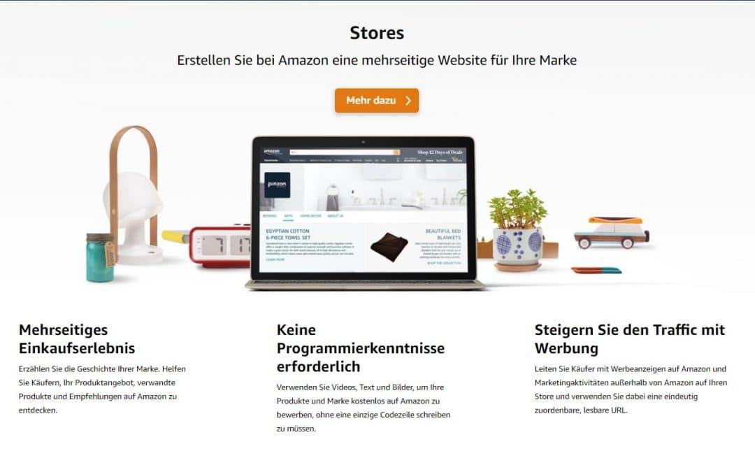 Was sind Amazon Markenstores?