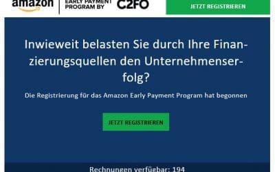 Das neue Amazon Early Payment Program für Vendoren: Gibt's jetzt sofort Geld aufs Konto?